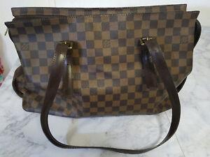 91d4e948d1218 Authentic Louis Vuitton Damier Ebene Chelsea Tote Shoulder Bag