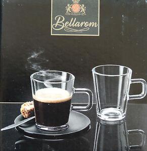 4 glas kaffeetassen 150ml set 8tlg tassen 4 untertassen kaffee tee espresso neu ebay. Black Bedroom Furniture Sets. Home Design Ideas