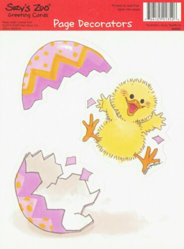 Suzy/'s Zoo 25 Sheets Scrapbooking Page Decorators Easter Chick Egg Hatching