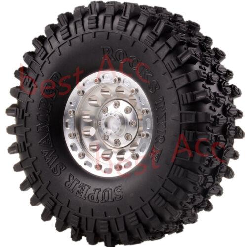"4PCS 1.9/"" Rock Crawler Metal Wheels Tyre Tire OD:120MM RC 1:10 SCX10 D90 CC01"