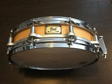 """PEARL 14"""" x 3.5"""" FREE FLOATING Maple SHELL PICCOLO SNARE DRUM Free floater"""