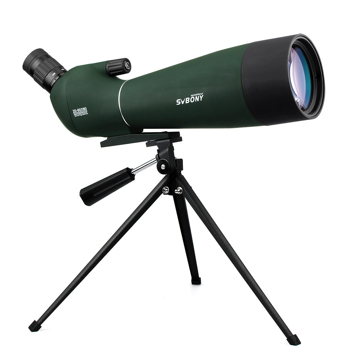 Brand New SV28 20-60x80mm BAK4 IP65 Prism Refractor Angled Spotting Scope