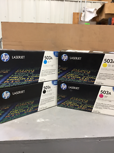 HP OEM Genuine Q6470A Q7581A Q7582A Q7583A 501A 503A 3800 CP3505 in black boxes