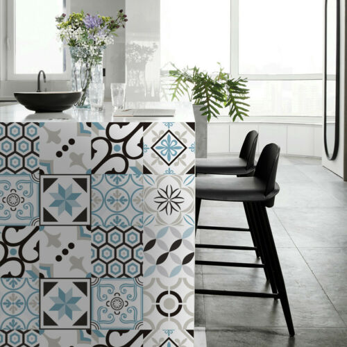 20pcs Retro Mosaic Wall Tile Stickers Waterproof Bathroom Kitchen Home Decor