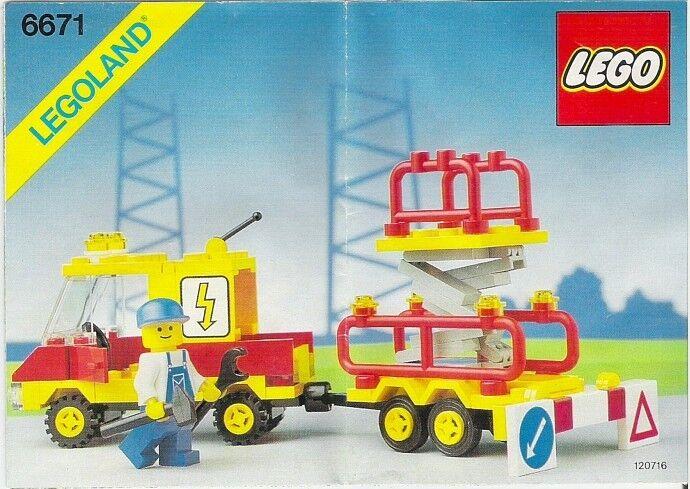 Lego Stadt 6671 Dienstprogramm Reparatur Heben Legoland Klassisch - Neu Neu Neu Ovp f566e1