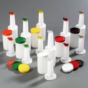Set-of-6-Plastic-Assorted-Quart-Juice-Pourer-4-Piece-Store-n-Pour-Bottle