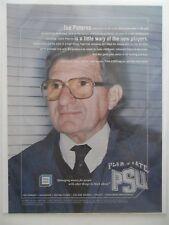 2003 Print Ad  TIAA CREF Financial Service ~ Joe Paterno PSU Penn State Football