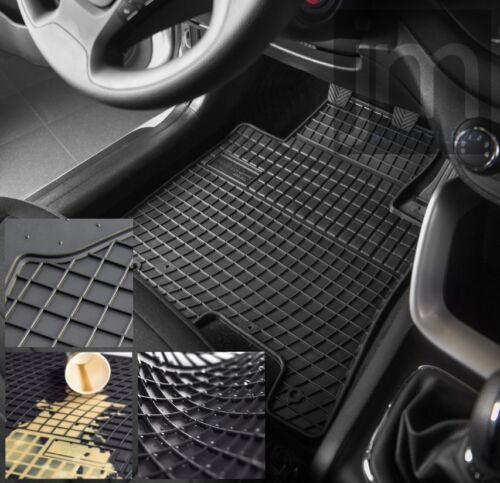 Fg546931 Tappetini in Gomma Tappetini 4 PEZZI PER RENAULT CAPTUR posteriore acciaio per anno fabbricazione 2013