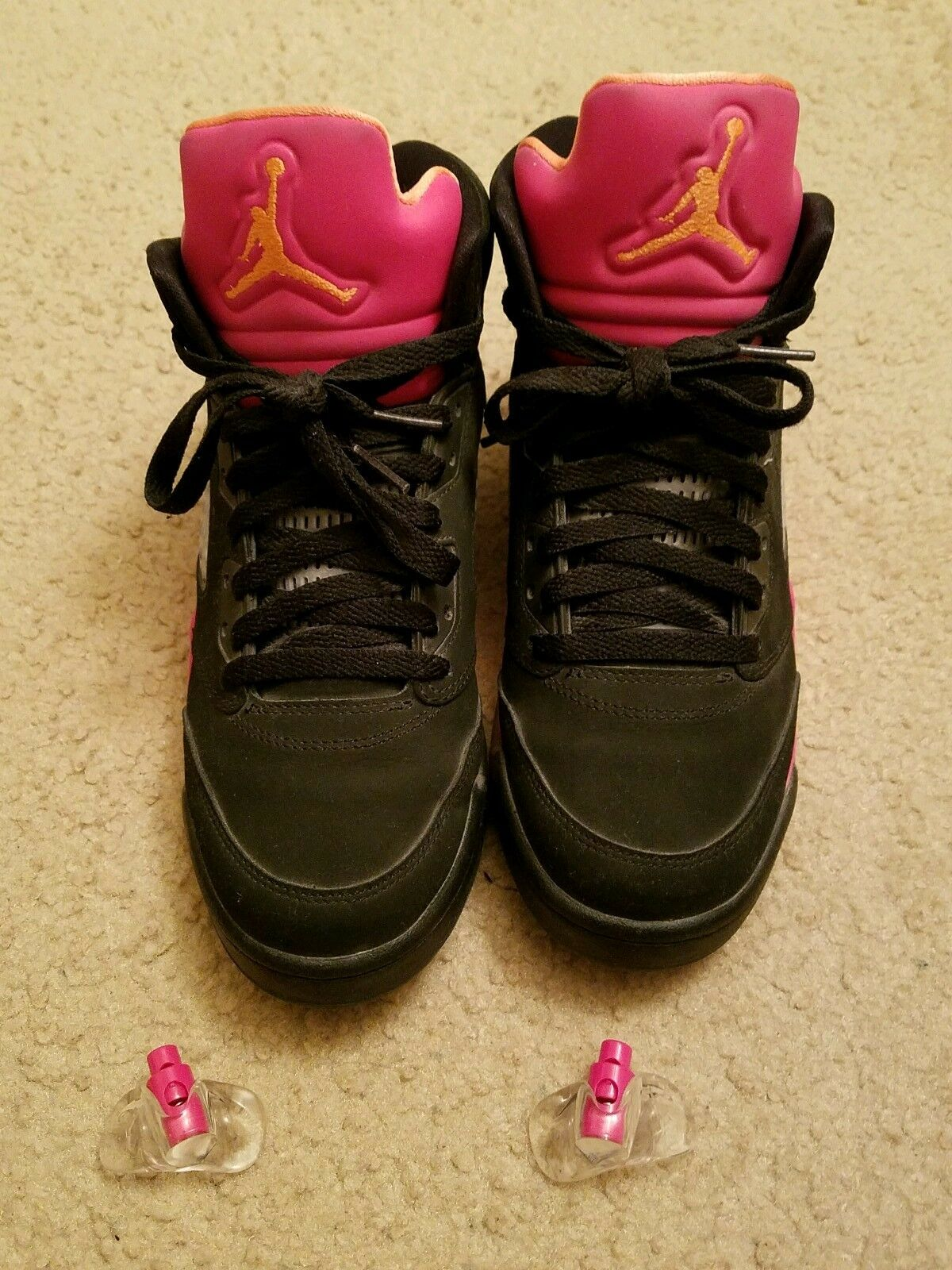 Jordan Retro 5 - orange Pink Black - Size 6.5Y