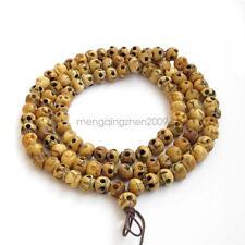 108Beads Bone Skull Tibet Buddhist Prayer Beads Mala10mm*8mm Bracelet Necklace