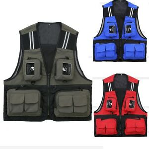 Men's Vest Fishing Fly Hunting Travel Waistcoat Jacket Outdoor Mesh Multi-Pocket