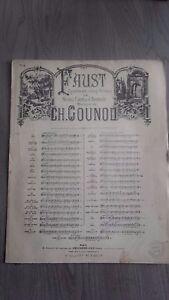 Faust Opera IN 5 Atti M.Carre&j.barbier Ch.gounod Spartiti Choudens Parigi