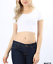 Crop-top-scoop-neck-short-sleeve-fitted-tee-casual-stretch-cotton-solid-top-S-L thumbnail 13