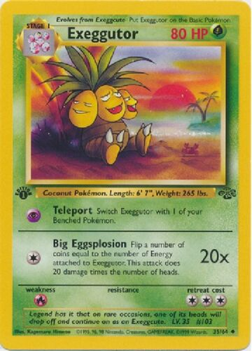 Wizards of the Coast Pokemon Jungle Cards Rare 1st Edition