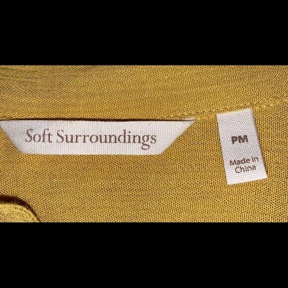 Soft Surroundings mustard yellow tunic blouse Sz M - image 6