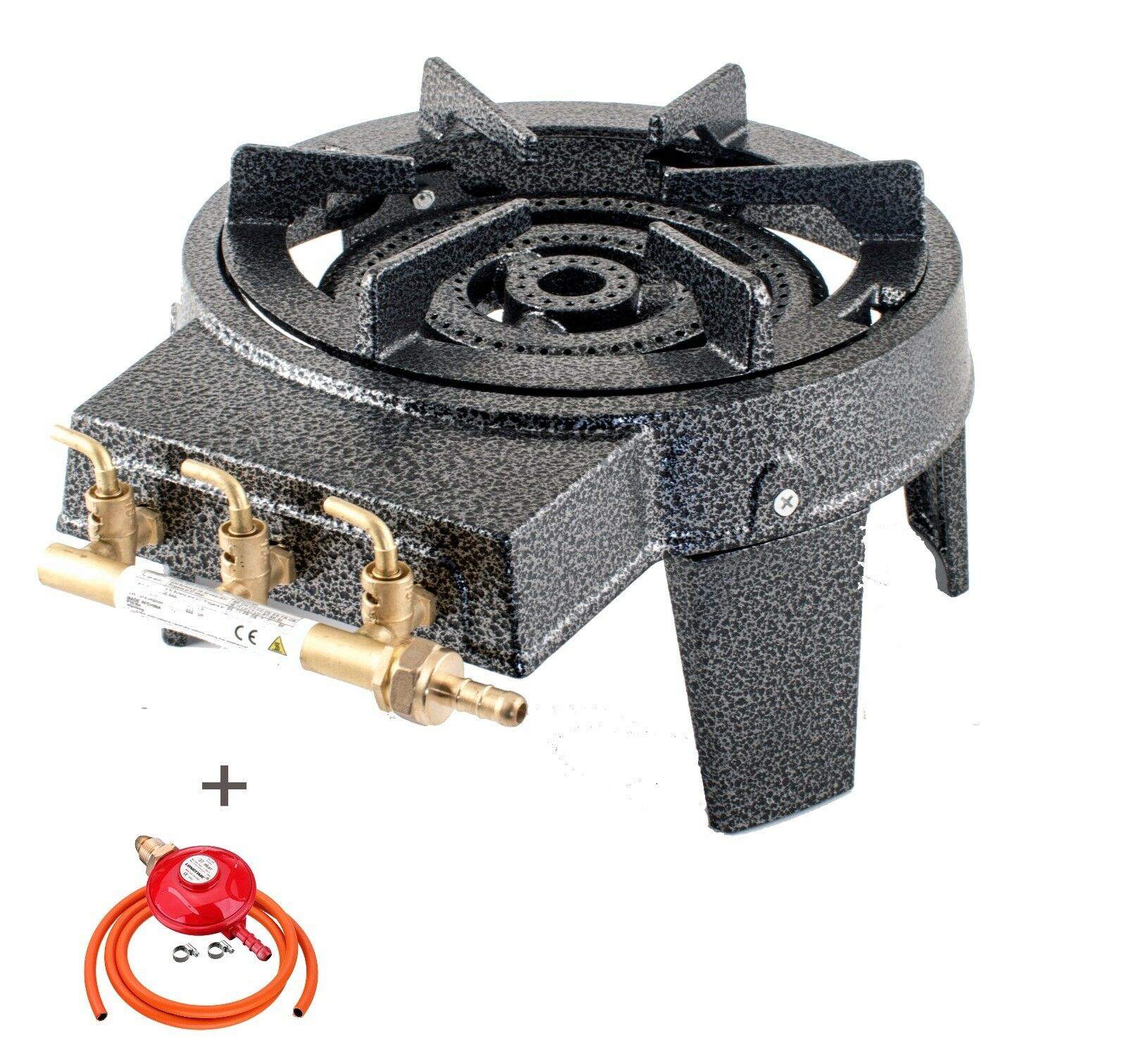 NJ GB-17 Cast Iron Gas Gas Gas Stove Burner Large Boiling Ring 9kW BBQ Camping Catering 53974b
