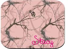 PERSONALIZED MOUSE PAD COMPUTER PC RUBBER PINK CAMO