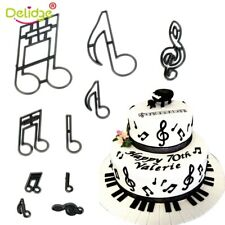 10PCS//set Music Notes Cookie Cutter Plastic Sugarcraft Fondant Cutter E/&HVNIUS