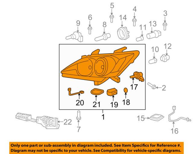 *NEW LEXUS ES350 DRIVER HEADLIGHT BRACKET SUPPORT OEM 2007-2009 LEFT DRIVER HID