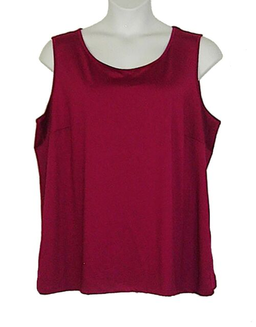 Maggie Barnes Berry Wine Sleeveless Knit Tank Plus Size 3X Bust 53