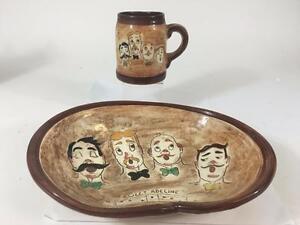 Pennsbury-Pottery-Sweet-Adeline-Barbershop-Quartet-Mug-Snack-Serving-Bowl-Set-2