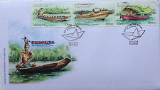 Malaysia FDC with stamps (26.05.2016) - River Transport in Sarawak