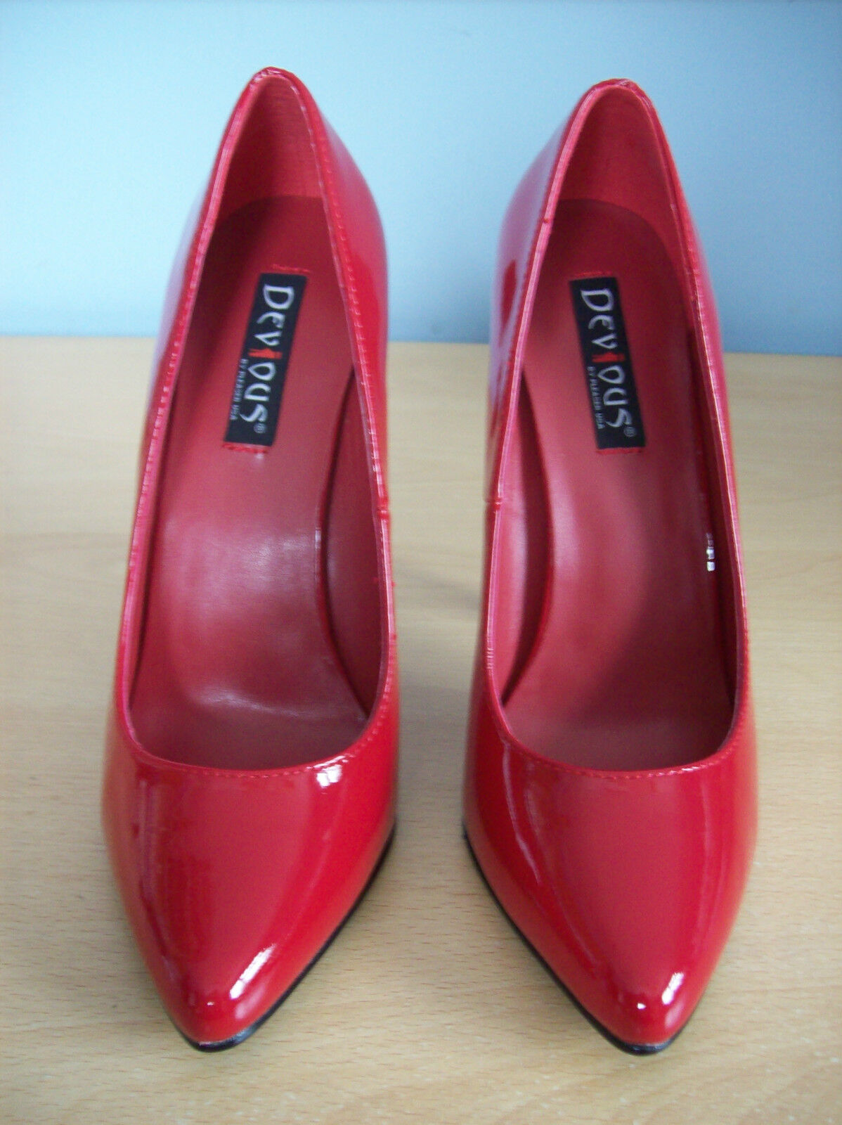 shoes Pleaser Pleaser Pleaser DOMINA 420 Very High Heel Stiletto Red UK Size 5 EUR Size 38 New a51b63