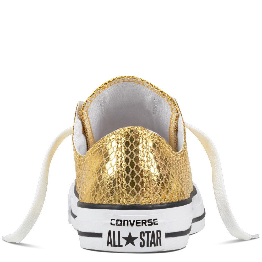 Converse Chuck Taylor Taylor Taylor All Star Ox Zapatillas women de Deporte Metálico gold 0c507f