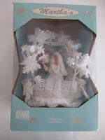 Vintage Wedding Cake Topper Porcelain Couple Martha's Original Box Unused
