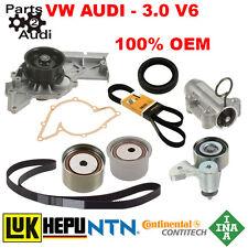 Timing Belt Kit Water Pump Seals Pulleys A4 A6 3.0L V6 Quattro Audi