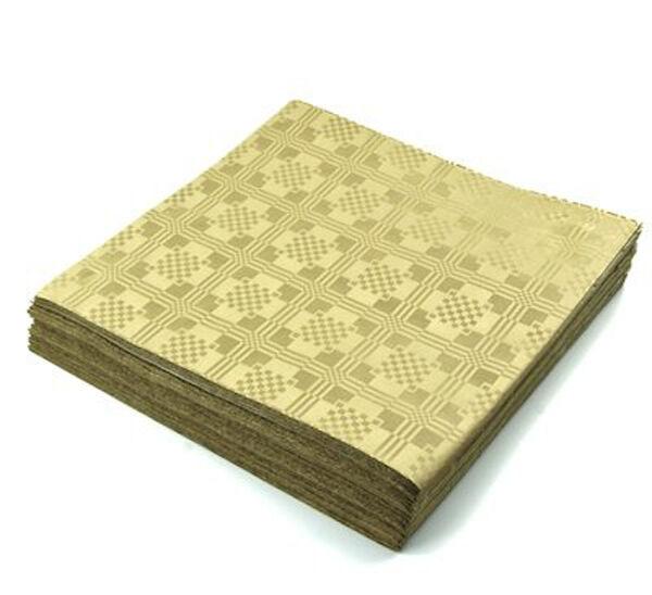 4 x 25 oro carta usa e getta tavola Cover Panno 90x88cm - 100 FOGLI
