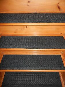 1 step 8 1 2 39 39 x 35 39 39 indoor outdoor stair treads non slip 100 rubber ebay for Non skid stair treads exterior