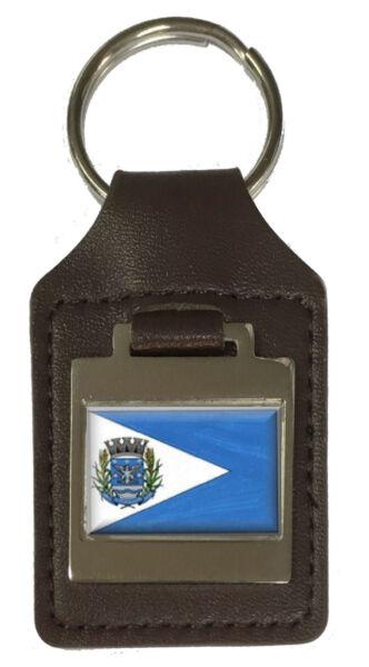 2019 Ultimo Disegno Portachiavi In Pelle Inciso Italva City Rio De Janeiro State Bandiera