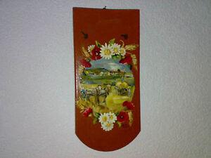 Wandfliese-Dachziegel-Tile-Handbemalt-Hand-Painted-Harvest-Ernte-H-38-cm