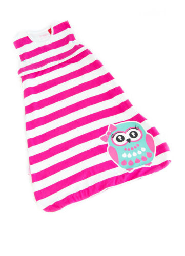 Pink & White Owl Baby Sleeping Bag Organic Cotton 2.5 TOG 618 months size 1