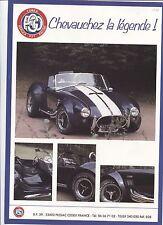 N°6847 / prospectus COBRA replica 427 racing   salon de paris 1988