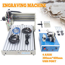 New Listingusb 400w 4 Axis Cnc Router Engraver Kit Drilling Milling Machine Remote Control