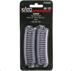 Kato-20-121-Rail-Courbe-Curve-Track-R315mm-15-4pcs-N