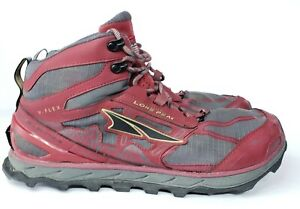 Altra-Lone-Peak-4-Mid-Mens-Size-13-Trail-Hiking-Boots-Red-Gray-Fast-Shipping