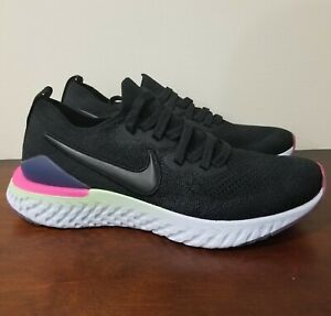 New-Nike-Epic-React-Flyknit-2-GS-Black-Sapphire-Youth-Size-7Y-AQ3243-003