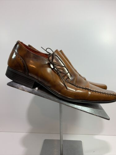 Jeff Banks London Tan Leather Lace Up Shoes Size 8
