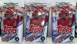 2021 Topps Series 1 Baseball MLB - New 40 Cards Each Cello Fat Packs Lot Of 3🔥