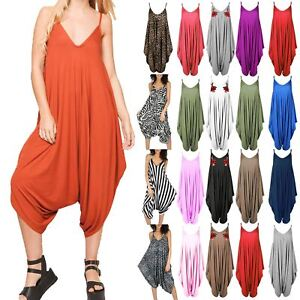 504a95855d3 Image is loading New-Womens-Ladies-Cami-Thin-Strap-Lagenlook-Romper-