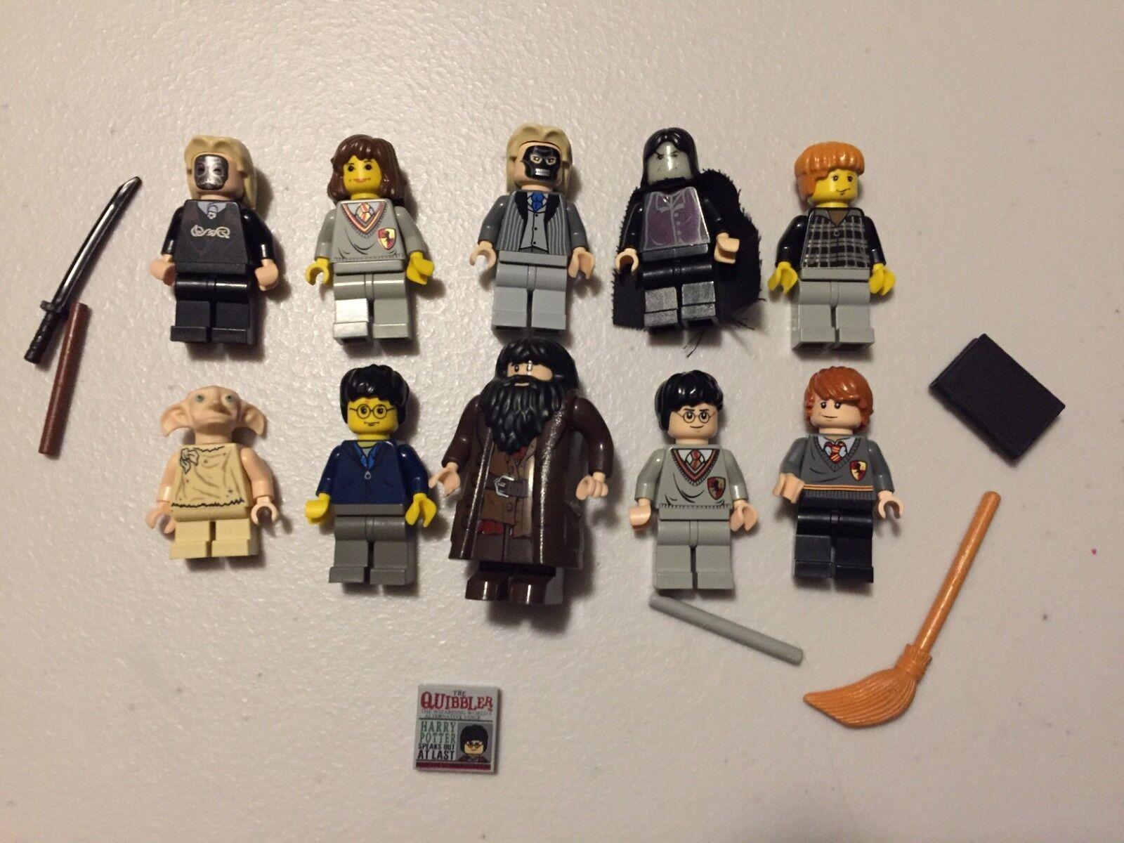 LEGO Harry Potter MINIFIG LOT of 10 MINIFIGS Dobby Draco Lot t496B