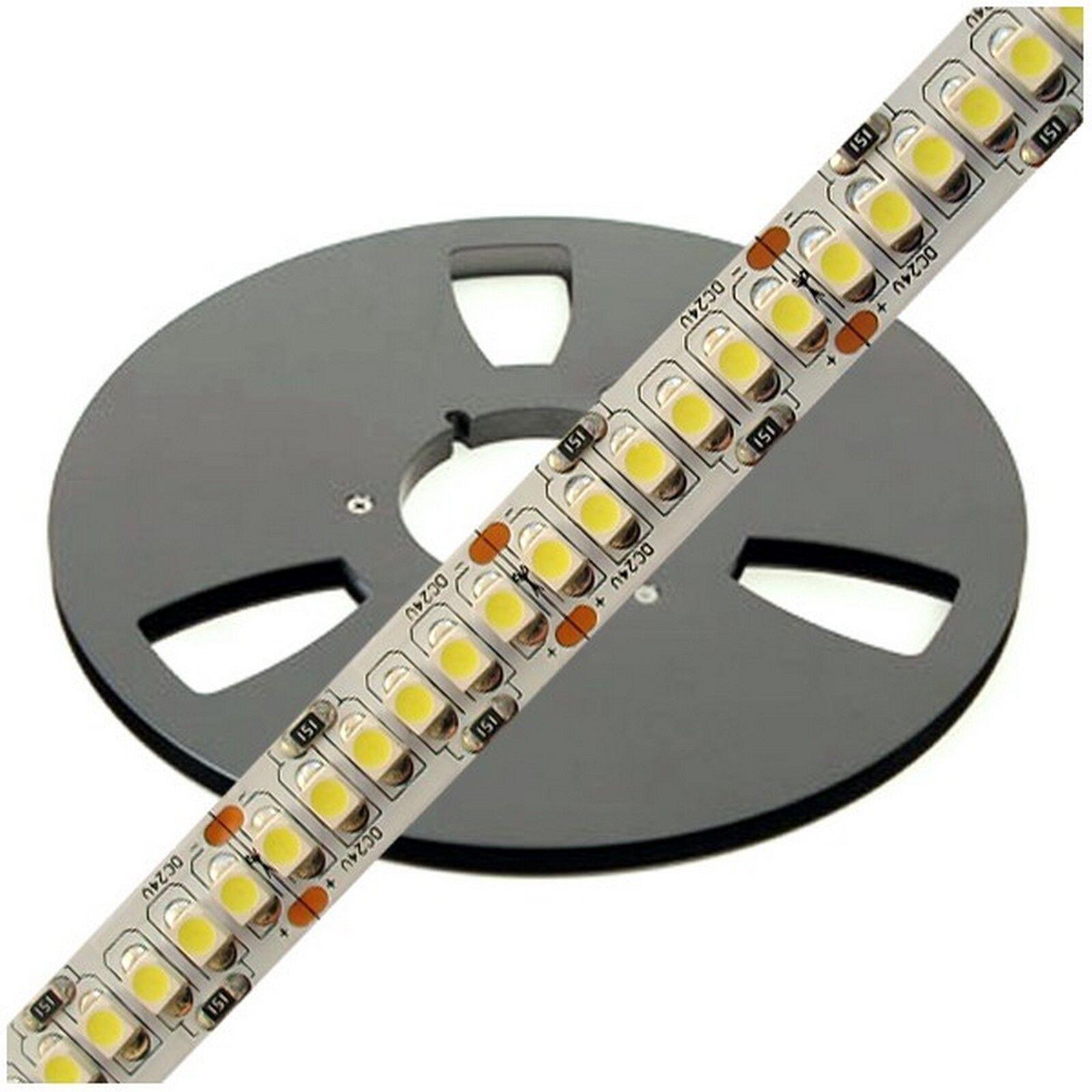 BOBINA 5MT STRIP 1200 LED 3528 BIANCO NATURALE Weiß 4000-4500K 24V 9000LM