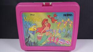 The Little Mermaid Walt Disney Vintage Plastic Lunchbox Rare Pink No Thermos