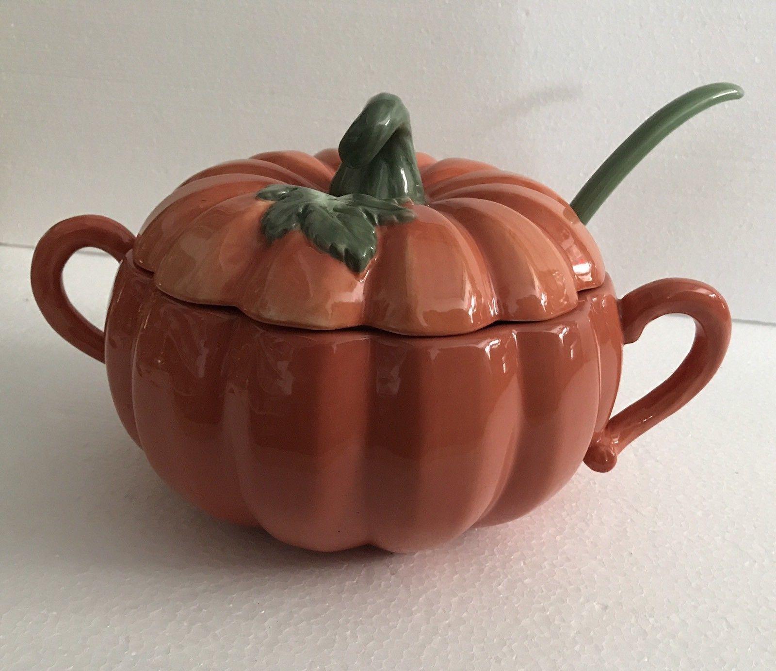 VILLEROY & BOCH Jardin des Delices Terrine Kürbis Pumpkin + Löffel Kürbisform     Vielfalt