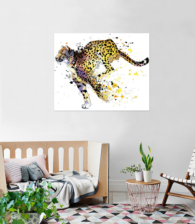3D Farbe Leopard 523 Fototapeten Wandbild BildTapete AJSTORE DE Lemon