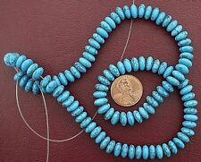 """8mm Rondelle Gems Synthetic Turquoise Beads 15"""" Strand"""