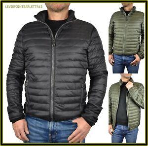 Dettagli su Piumino giacca 100 grammi uomo giubbotto giubbino invernale verde nero da M a 4X